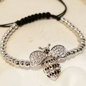 NEW Bumble Bee Pave CZ draw strings bracelet